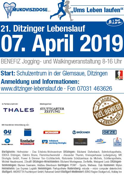 Plakat Flyer Muko-Lauf ditzingen am 07.04.2019