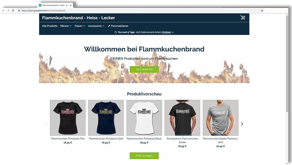 Onlineshop Flammkuchenbrand