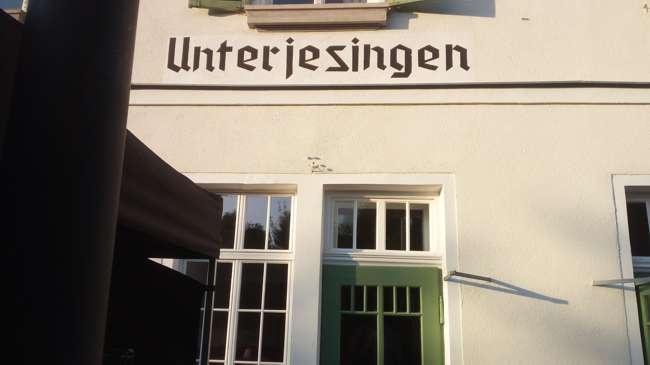 seminarhaus unterjesingen, bahnhof, schild, location