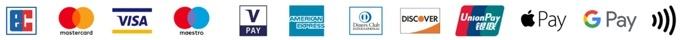 Logos, Darstellung der Bezahlmöglichkeiten mit Kreditkarte